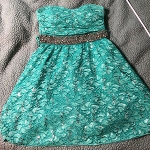 My Michelle turquoise gem dress